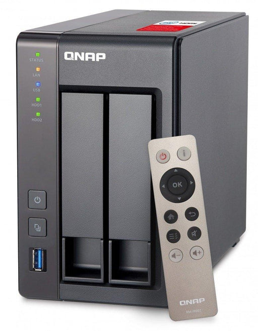 QNAP TS-251+-2G NAS  2Bay Tower Ethernet LAN Grey (TS-251+-2G-US) - V&L Canada