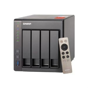 "QNAP TS-451+ NAS Server - 4 Bays, Intel Celeron 2GHz Quad-Core, 8GB DDR3L, 512 MB Flash Memory, 2x GigE, 4x 2.5""/3.5"" SATA 6Gb/s, RAID 0, 1, 5, 6, 10, and JBOD Support, QTS 4.2 - TS-451+-8G-US - V&L Canada"