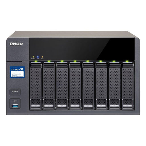 QNAP ARM Cortex-A15 Quad Core 1.7GHz, 8GB DDR3 RAM (up to 16GB), SATA 6Gb/s, 2 x 10Gb (TS-831X-8G-US) - V&L Canada