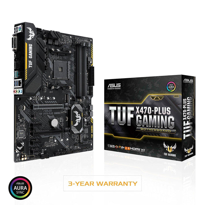 ASUS TUF X470-Plus Gaming AMD Ryzen 2 AM4 DDR4 HDMI DVI M.2 ATX Motherboard - V&L Canada