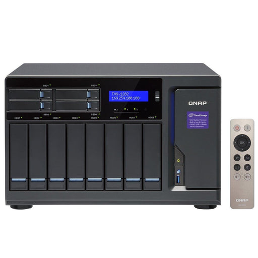 QNAP NAS Network Attached Storage TVS-1282-i5-16G-US 12Bay 16GB 3.6GHz Skylake Core i5 10G-ready Retail - V&L Canada