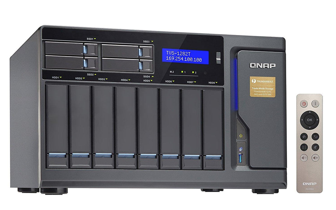 QNAP NAS Network Attached Storage TVS-1282T-i5-16G-US 12Bay 16GB RAM Thunderbolt Core i5 3.6GHz 2Port Retail - V&L Canada