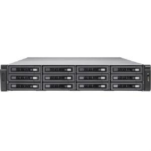 QNAP TVS-EC1280U-SAS-RP R2 12-Bays NAS server - 2U, Intel Xeon E3-1246 v3 3.5GHz, 8GB, 512MB DOM, 4x USB 3.0, 4x USB 2.0, 6x Gigabit Ethernet, Hot-swappable and Lockable Tray - TVSEC1280USASRP8GER2 (TVS-EC1280U-SAS-RP-8GE-R2-US) - V&L Canada