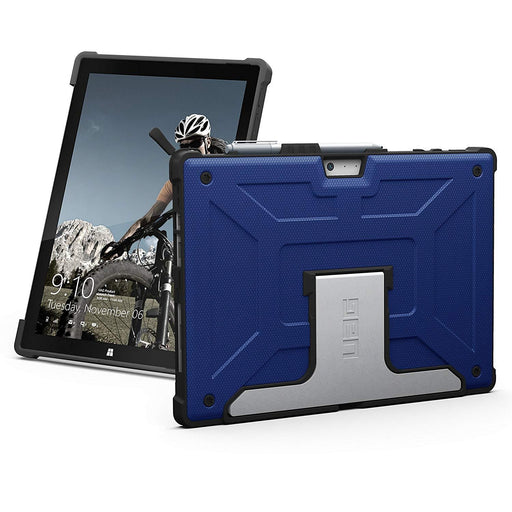 URBAN ARMOR GEAR UAG Microsoft Surface Pro 6/Surface Pro 5th Gen/Surface Pro 4 Feather-Light Rugged [Cobalt] Aluminum Stand Military Drop Tested Case (UAG-SFPRO4-CBT-VP)