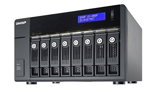 QNAP Storage UX-800P 8Bay Network Attached Storage NAS SATA 6Gbps USB3.0 Designed for TS-x69 Pro/TS-x69L Series Retail - V&L Canada