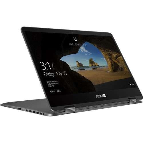 "Asus ZenBook Flip 14 Notebook - 8th Gen Intel Core i5-8250U 1.6GHz CPU, 8GB LPDDR3 SDRAM, 256GB SSD, 14"" Touchscreen 1920x1080, Intel UHD Graphics 620, USB-C, WiFi, Win 10 Home 64-bit - UX461UA-DS51T"