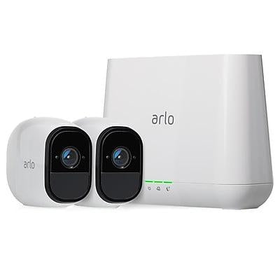 NETGEAR Arlo Pro Security System with Siren – 2 Rechargeable Wire-Free HD Cameras with Audio | Indoor/Outdoor | Night Vision (VMS4230-100PAS) - V&L Canada