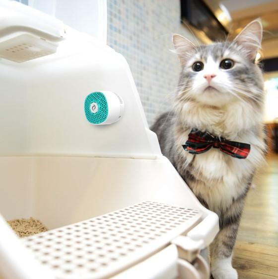 VentiFresh: cat Litter Odor Eliminator, Smart air Cleaner for Containers, cat Odor Remover, cat Pee Odor Control