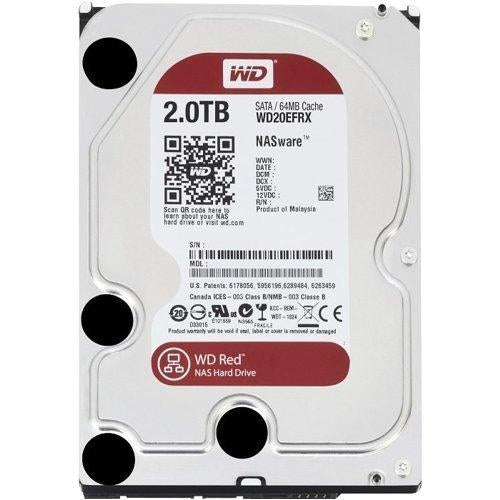 WD Red 2TB NAS Hard Disk Drive - 5400 RPM Class SATA 6 Gb/s 64MB Cache 3.5 Inch - WD20EFRX - V&L Canada