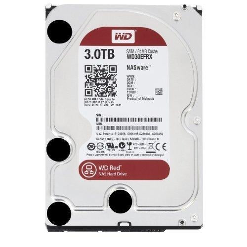 WD Red 3TB NAS Hard Disk Drive - 5400 RPM Class SATA 6 Gb/s 64MB Cache 3.5 Inch - WD30EFRX - V&L Canada