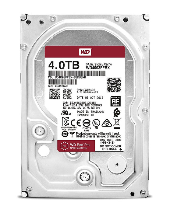 Western Digital RED PRO 4 TB HDD 4000GB Serial ATA III internal hard drive (WD4003FFBX) - V&L Canada