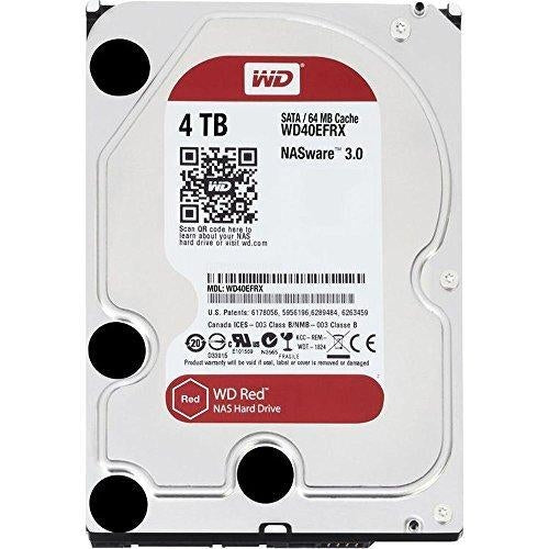 WD Red 4TB NAS Hard Disk Drive - 5400 RPM Class SATA 6 GB/S 64 MB Cache 3.5-Inch - WD40EFRX - V&L Canada