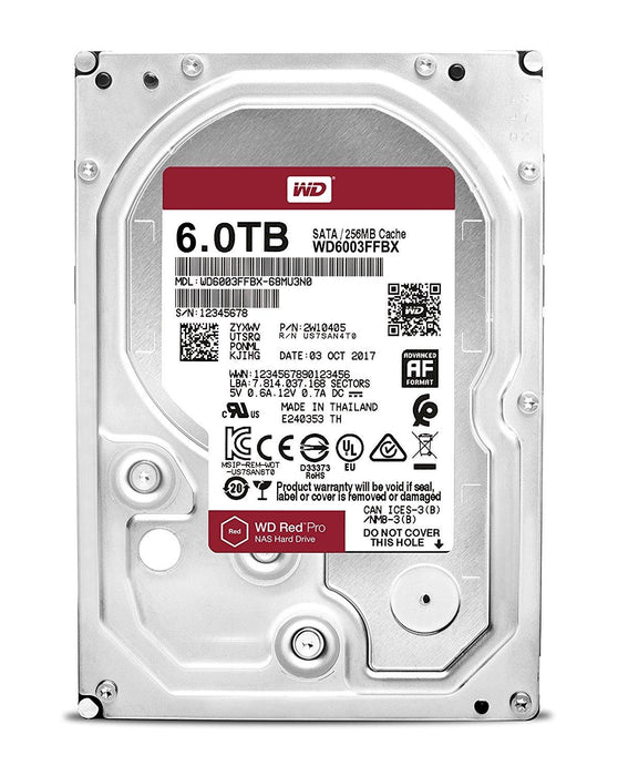 Western Digital RED PRO 6 TB HDD 6000GB Serial ATA III internal hard drive (WD6003FFBX)
