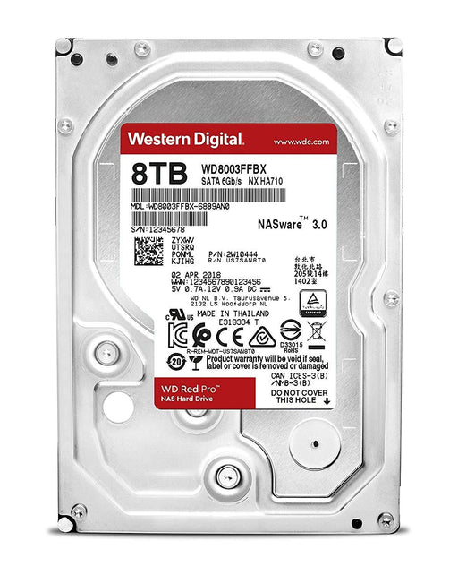 Western Digital Hard Disc Drive WD8003FFBX 3.5 inch 8TB Red Pro SATA 6Gb/s 7200RPM 128MB Bare (WD8003FFBX)