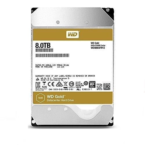 Western Digital Gold HDD 8000GB Serial ATA III internal hard drive (WD8003FRYZ)