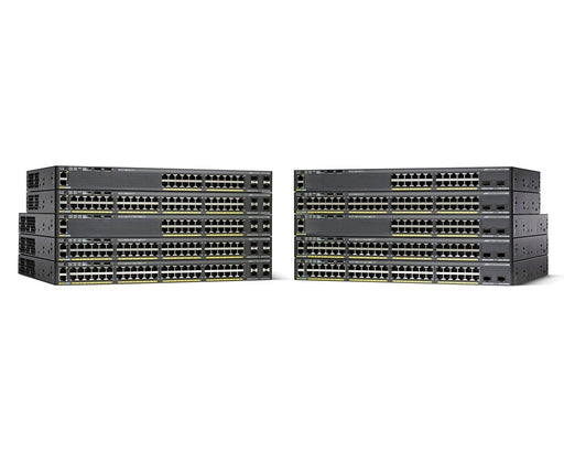 Cisco Small Business 2960X Series Switch - 24-Ports + 4 SFP uplink ports - Gigabit - Power over Ethernet - Layer 2 - Managed - Stackable (WS-C2960X-24PS-L)