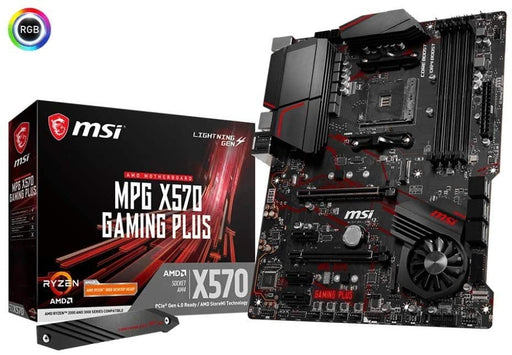 MSI MB X570GAMINGPLUS MPG X570 GAMING PLUS AMD RYZEN9 AM4 X570 Max128GB ATX