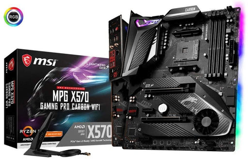 MSI MB MPG X570 GAMING PRO CARBON WI-FI AMD RYZEN9 AM4 X570 Max128G ATX Retail (X570GPCARBWIFI)