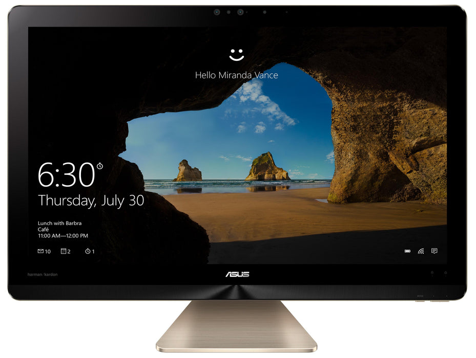 "ASUS Zen AiO Pro Z240IE-DS71 2.9GHz i7-7700T 23.8"" 3840 x 2160pixels Touchscreen Gold All-in-One PC (Z240IE-DS71T-CB) - V&L Canada"