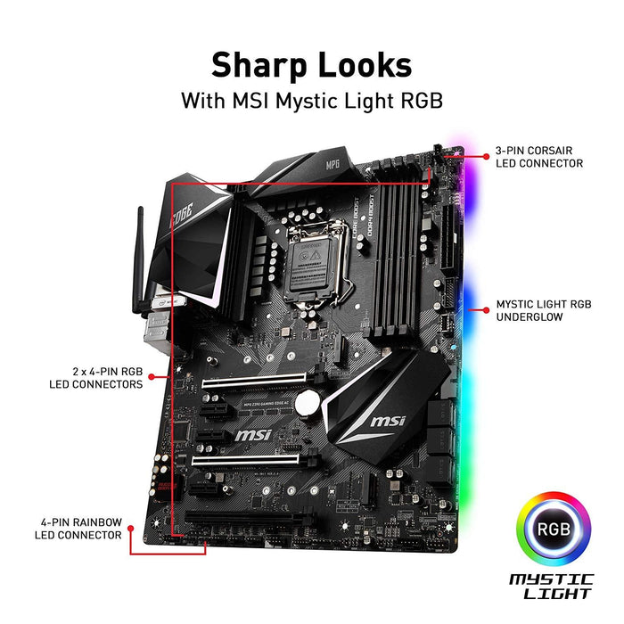 MSI MPG Z390 GAMING EDGE AC motherboard LGA 1151 (Socket H4) ATX Intel Z390 (Z390EDGEAC)