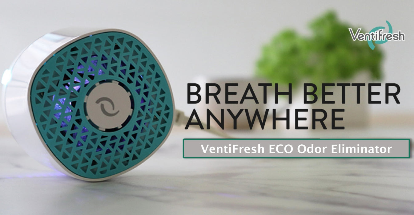 VentiFresh ECO Odor Eliminator, by using UV photocatalyst technology to remove germs & odors in small spaces. No filter needed, and only yields fresh air