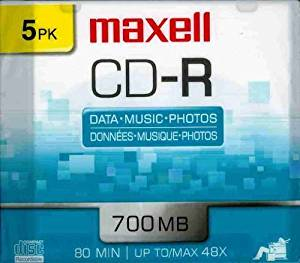 5 x CD-R - 700 MB ( 80min ) 48x - slim jewel case - storage media (648205)