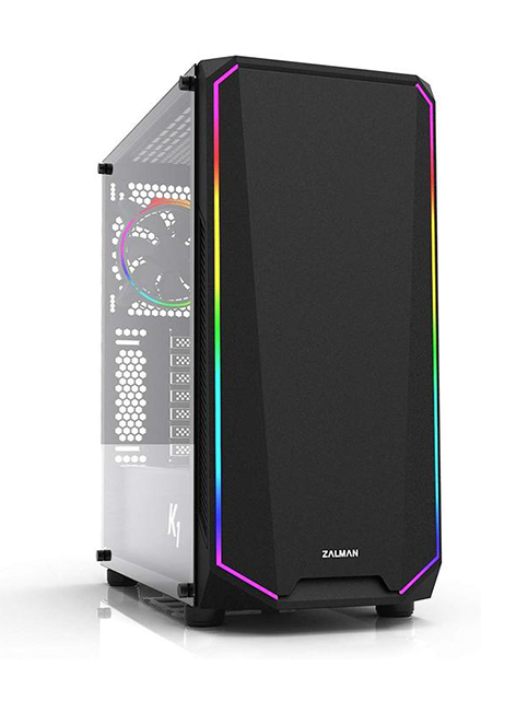 Zalman K1 ATX Mid-Tower Case W/Tempered Glass