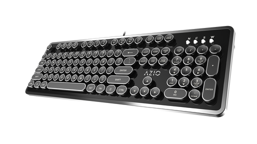 AZIO MK Retro USB Typewriter Inspired Mechanical Keyboard (Blue Switch) MK-RETRO-01 - V&L Canada