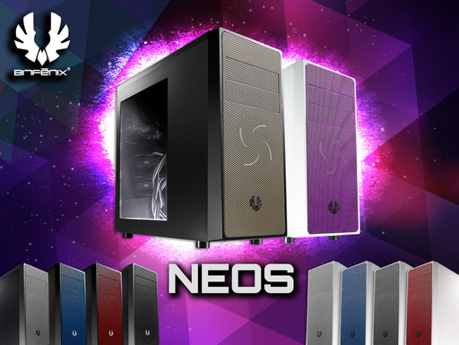 BitFenix Neos Window Side Panel ATX/Micro ATX/Mini-ITX Computer Case Compatible with ATX PSU