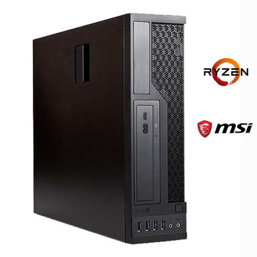 Business PC BX520 V2 System with Ryzen 5 2200G 8GB RAM, 480GB SSD, DVD-RW, Windows 10 Pro