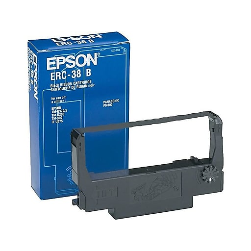 Epson ERC-38B Black Printer Ribbon Cartridges 10 Pack (ERC-38B-K)
