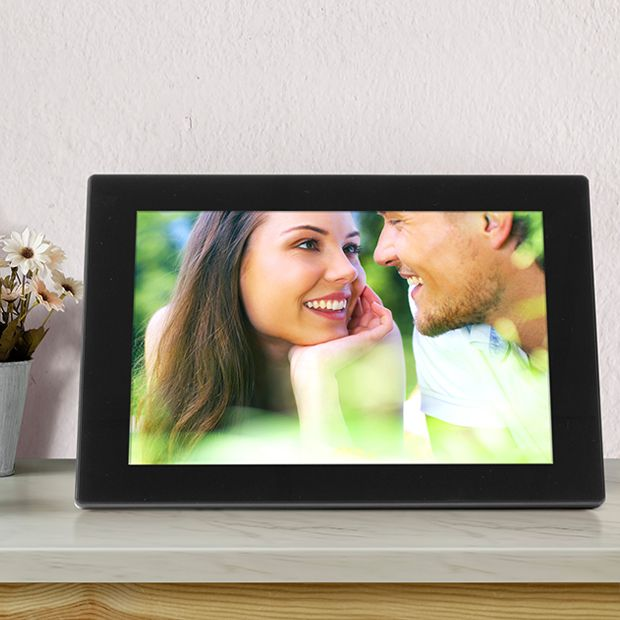 WiFi Digital Photo Frame with Touchscreen IPS LCD Display and 16GB Built-in Memory - 10 inch (AWS10F)