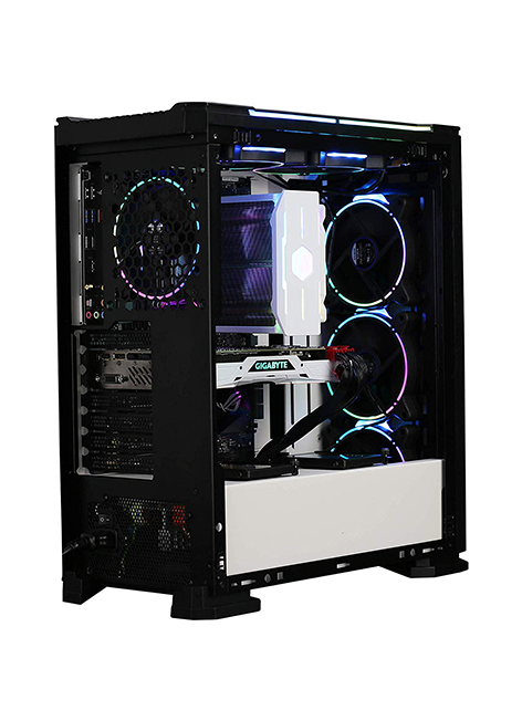 ZALMAN X3 ATX Mid-Tower Case, w/Tool-Less Side Panels, Comes w/4 RGB addressable Fans