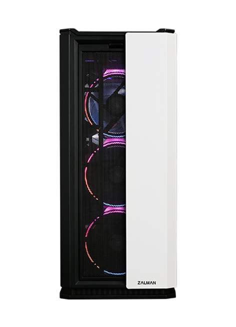 ZALMAN X3 ATX Mid-Tower Case, w/Tool-Less Side Panels, Comes w/4 RGB addressable Fans (White)