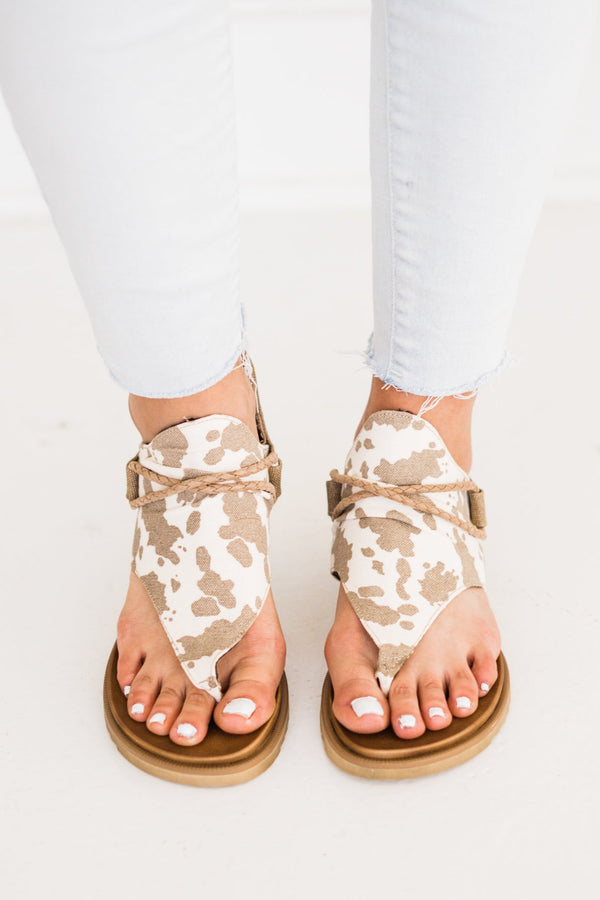 Very G Sparta Angelika Sandal in Tan Cow