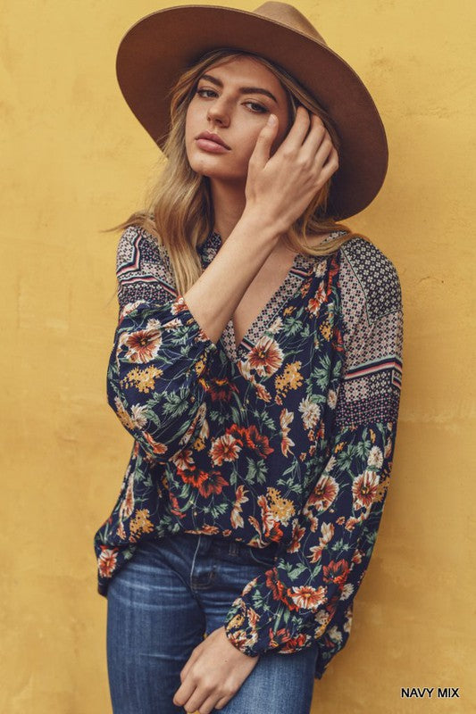 Patchwork Floral Top