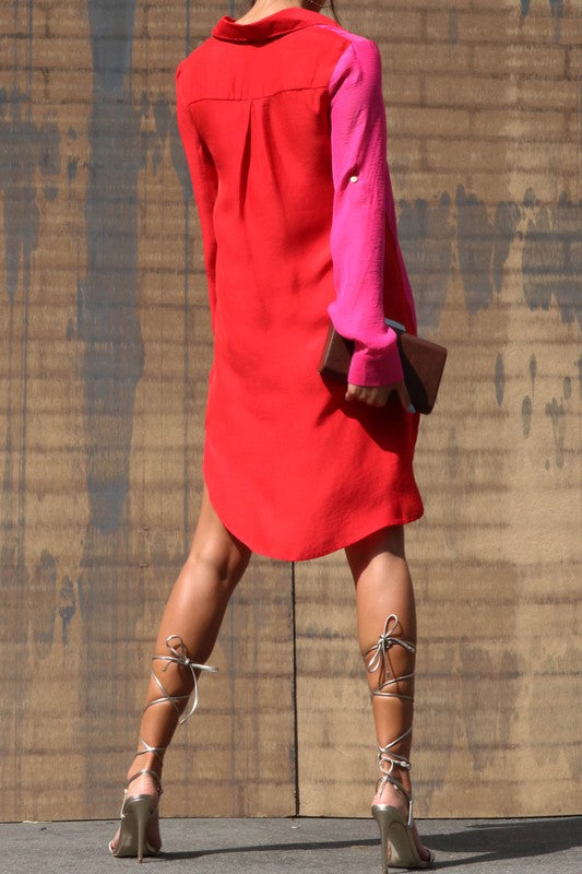 Chic Black Button Up Dress