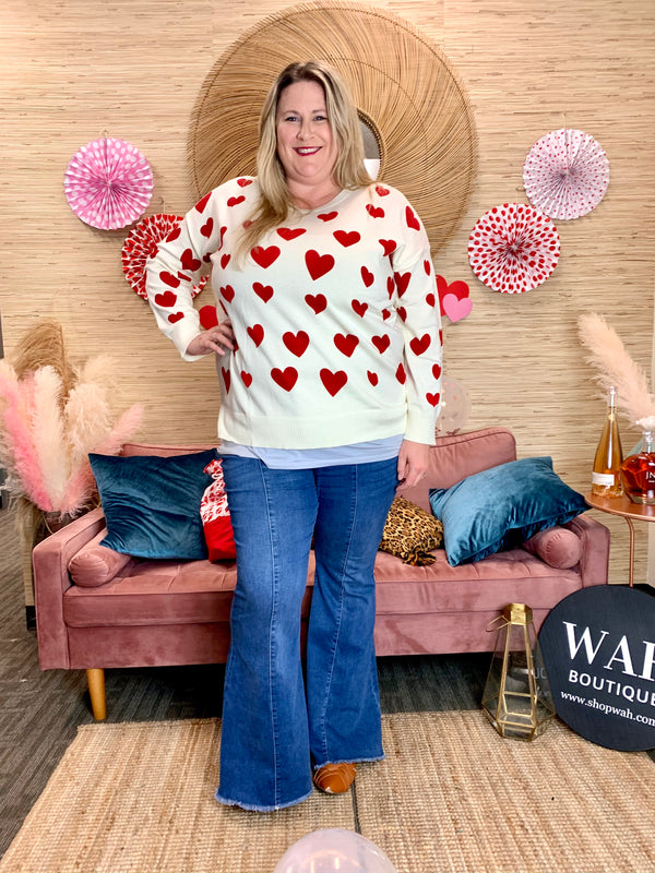 Plus Queen of Hearts Sweater