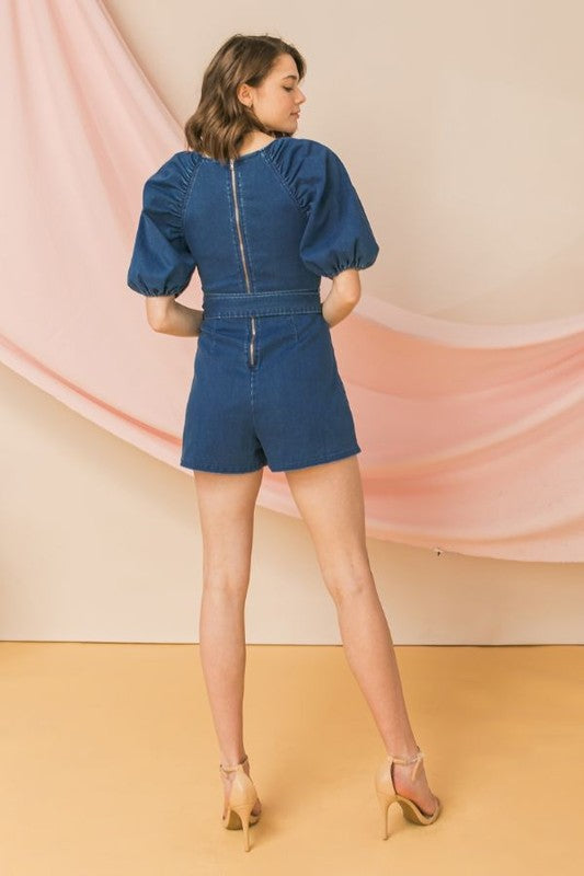 Oh Hey Girl Denim Romper