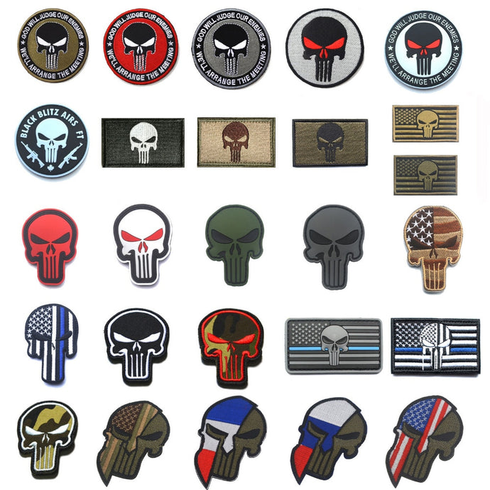 Punisher Badge Military Patches
