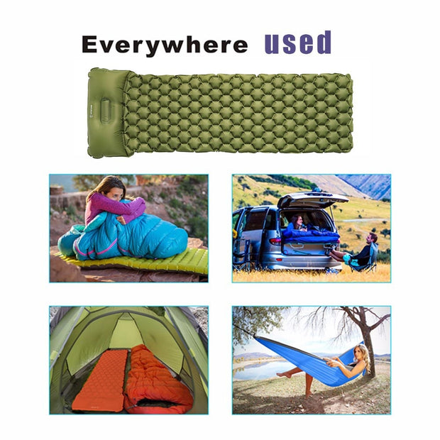 Camping Sleeping Mat With Pillow Air Mattress - US Tactical Warehouse