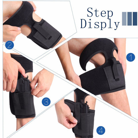 Secure Strap Leg Pistol Gun Holster - US Tactical Warehouse