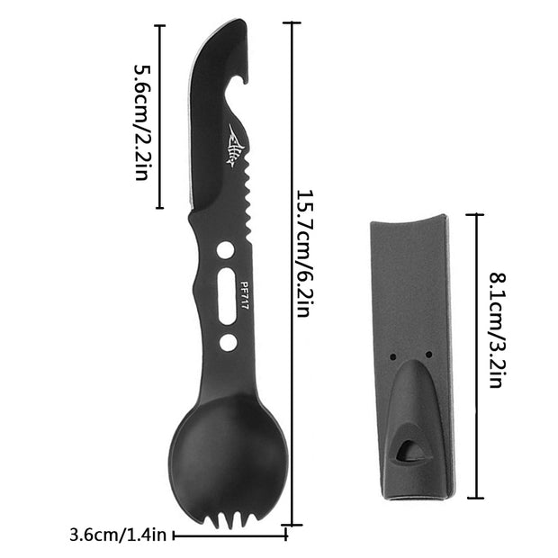 4 in 1 Camping Cutlery Fork Spoon - US Tactical Warehouse