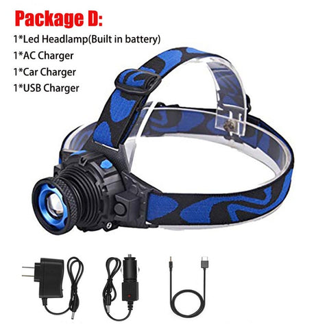 Rechargeable Waterproof  LED Headlamp - US Tactical Warehouse