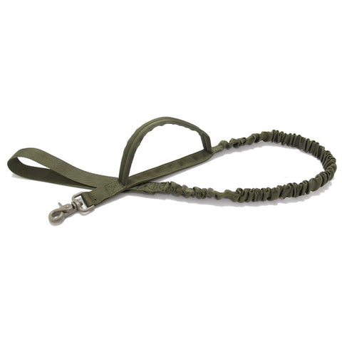Tactical Bungee Dog Leash 2 Handle Quick Release Cat Dog Pet Leash Elastic Leads Rope Military Dog Training Leashes - US Tactical Warehouse
