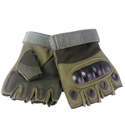 Combat Hard Knuckle Half Finger Gloves - US Tactical Warehouse