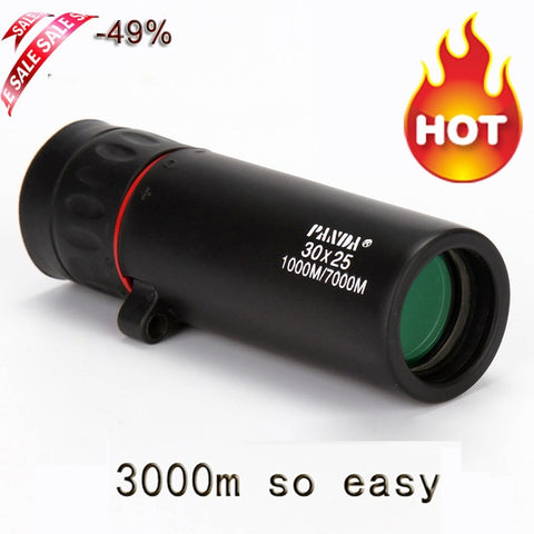 hot selling HD 30x25 Monocular Telescope binoculars Zooming Focus Green Film Binoculo Optical Hunting High Quality Tourism Scope - US Tactical Warehouse
