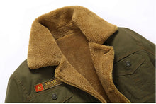 Men's Fleece Military Coat