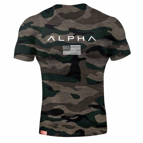 2018 Mens Military Army T Shirt 2017 Men Star Loose Cotton T-shirt O-neck Alpha America Size Short Sleeve Tshirts - US Tactical Warehouse
