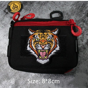 Tiger Bear Wolf Head Animal Embroidery Iron On Patches Morale Tactical Emblem Applique DIY Hat Coat Sticker Gifts Drop Shipping